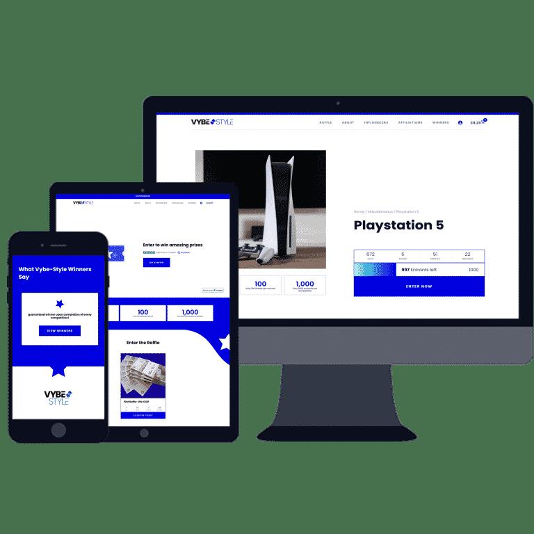 website designers for online raffle website