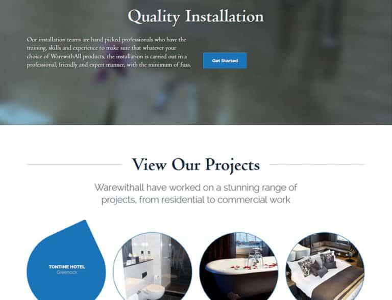 project portfolio design for brochure website