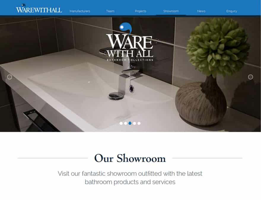 showroom gallery design for brochure website