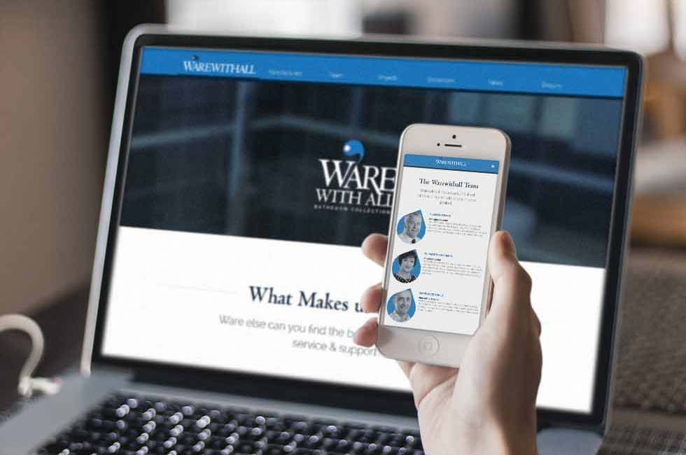 responsive mobile website for bathroom showroom business