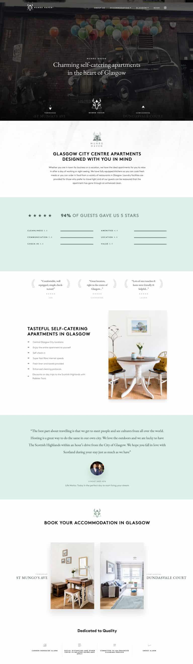 booking website designers in Glasgow