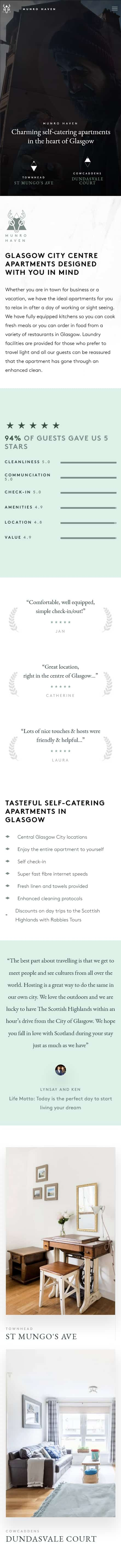 Glasgow booking website developers