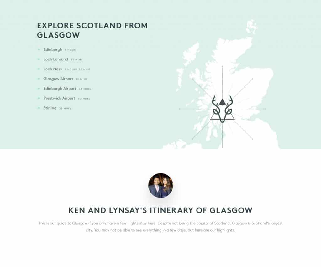 travel and tourism website in Glasgow
