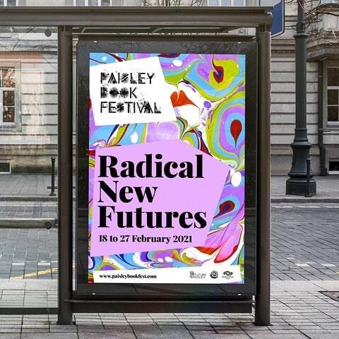 web design for Paisley book Festival
