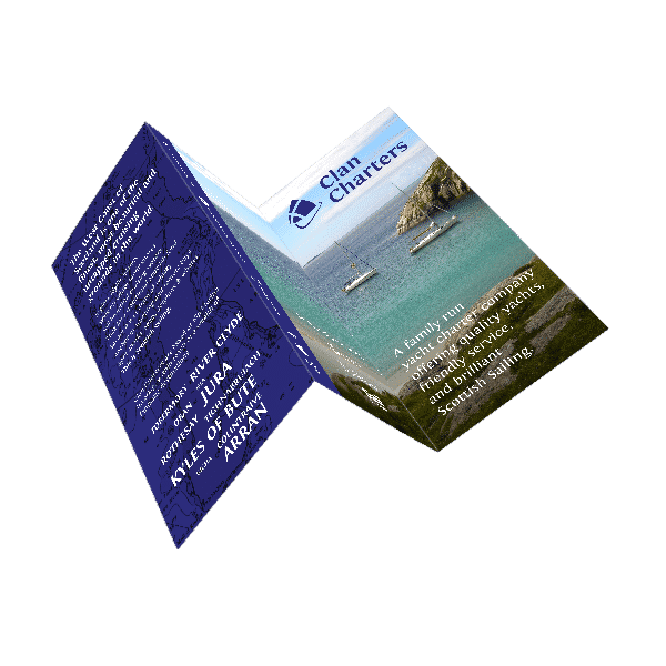 trifold flyer design for tourism company