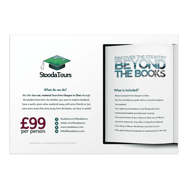 design of leaflets for new business