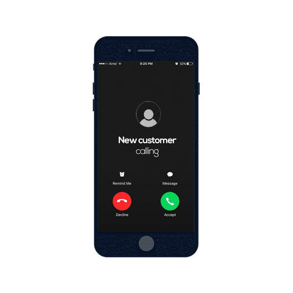Incoming calls from sales lead generation