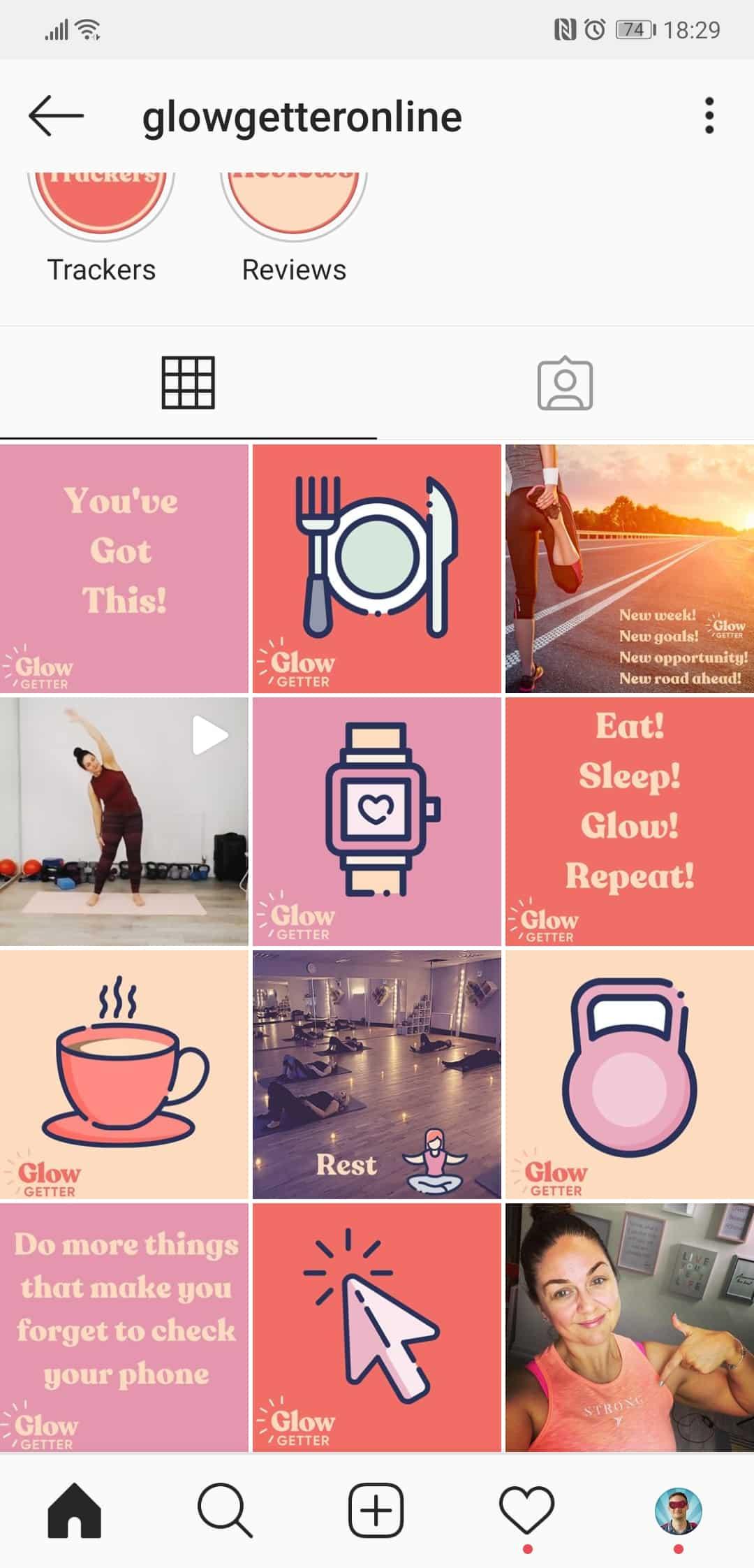 social media buzz for glow getter on instagram