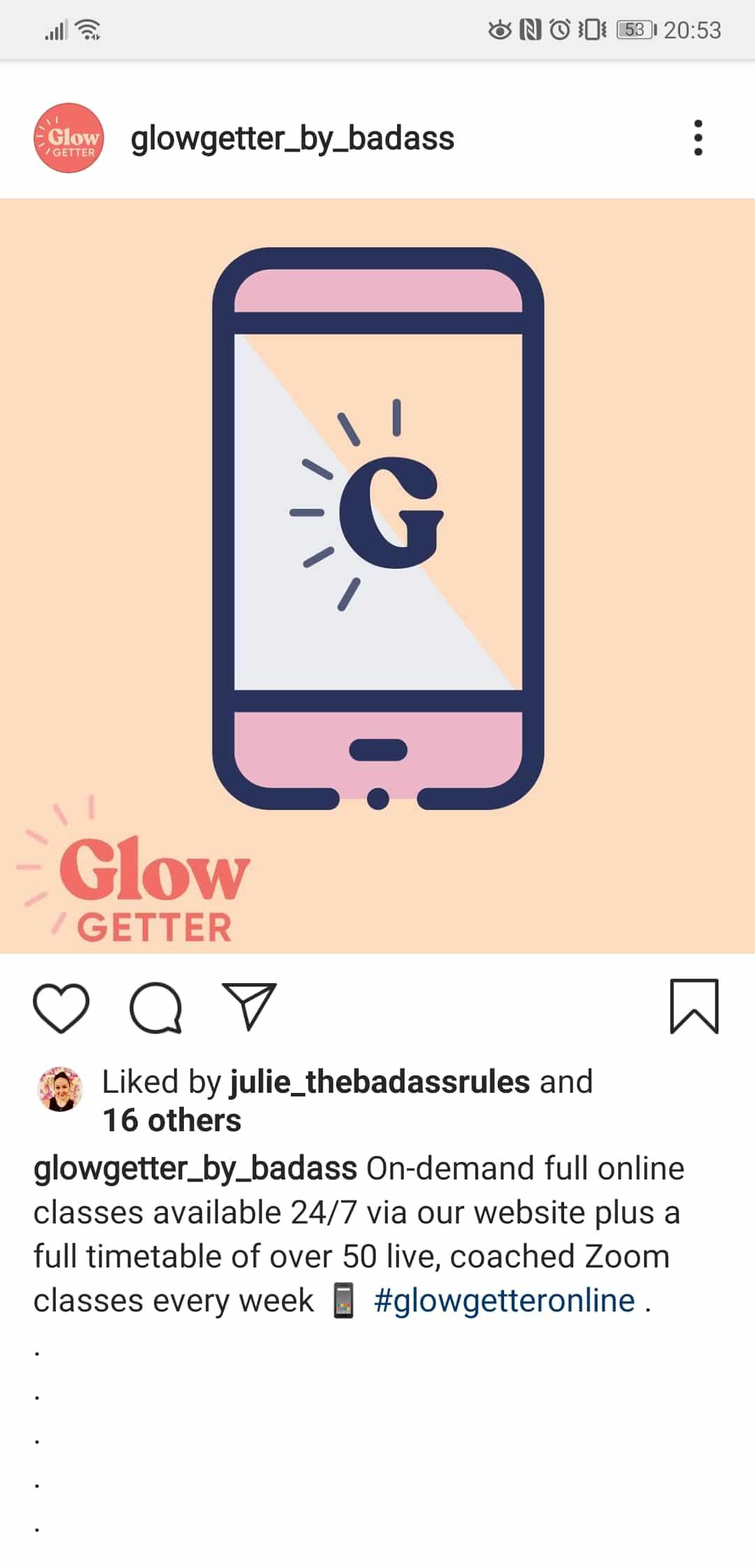 ne brand on instagram for Glowgetter