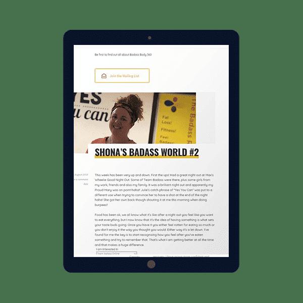 design of blogging website