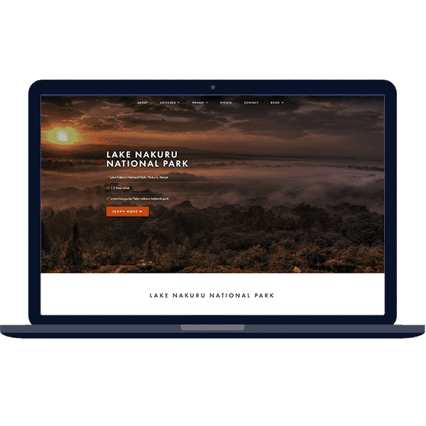 design of booking website on laptop
