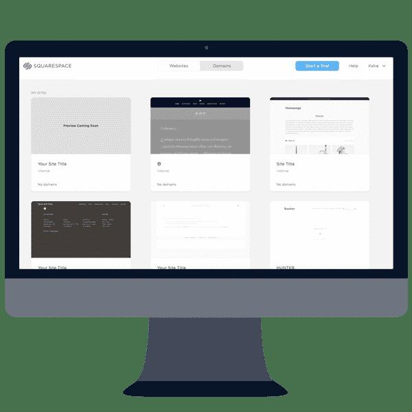 squarespace website builder dashboard