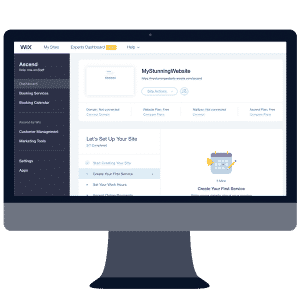 wix website builder dashboard
