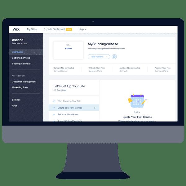 wix website builder dashboard