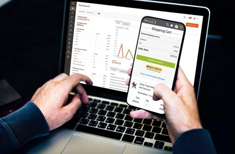 Magento E-Commerce platform dashboard