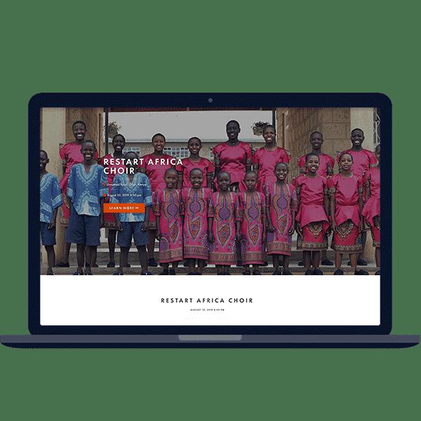 Design of gallery website