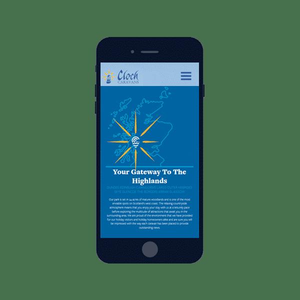 design of mobile responsive website