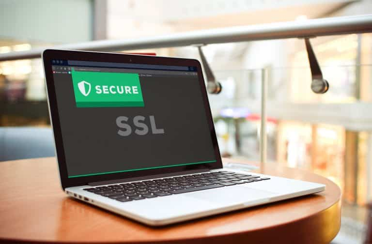an ssl secured website